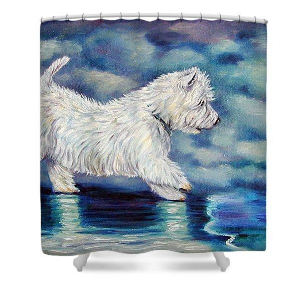 Misty - West Highland Terrier Shower Curtain