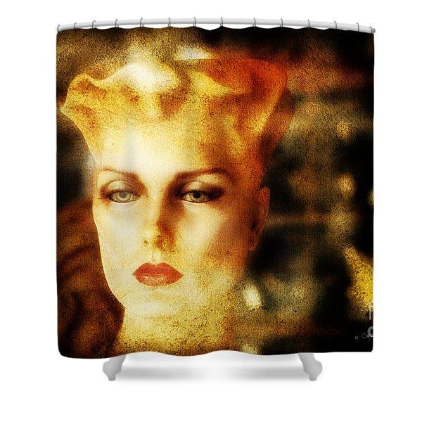 Misty Woman Shower Curtain