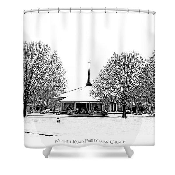 Mitchell Rd Presbyterian Shower Curtain