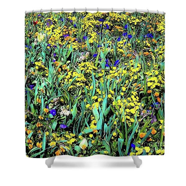 Mixed Flower Garden 515 Shower Curtain