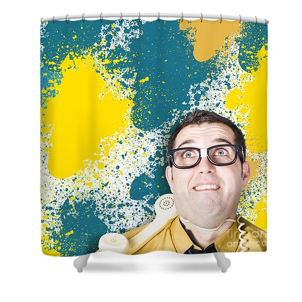 Mixed Up Graphic Designer Struggling With Client Shower Curtain