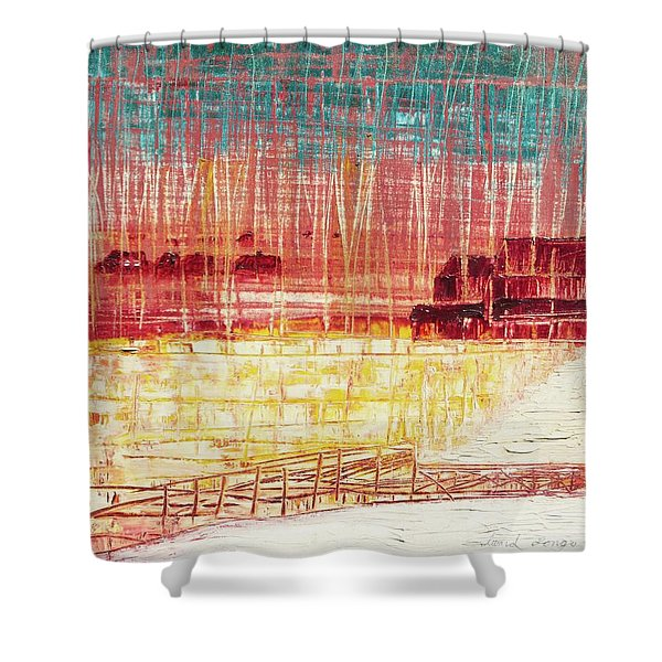 Mixville Road Shower Curtain