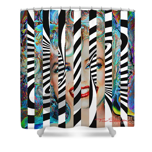 Mmother Of Pearl Sis 3 Shower Curtain