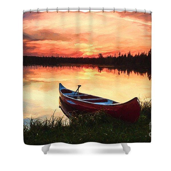 Mn Sunset 2 Shower Curtain