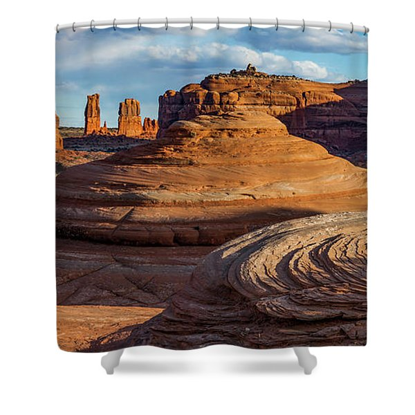 Moab Back Country Panorama 2 Shower Curtain