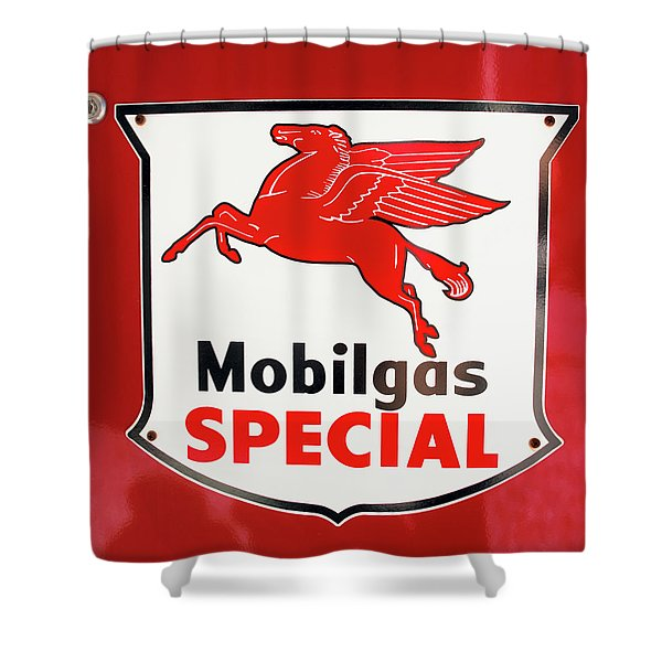 Mobilgas Vintage 82716 Shower Curtain