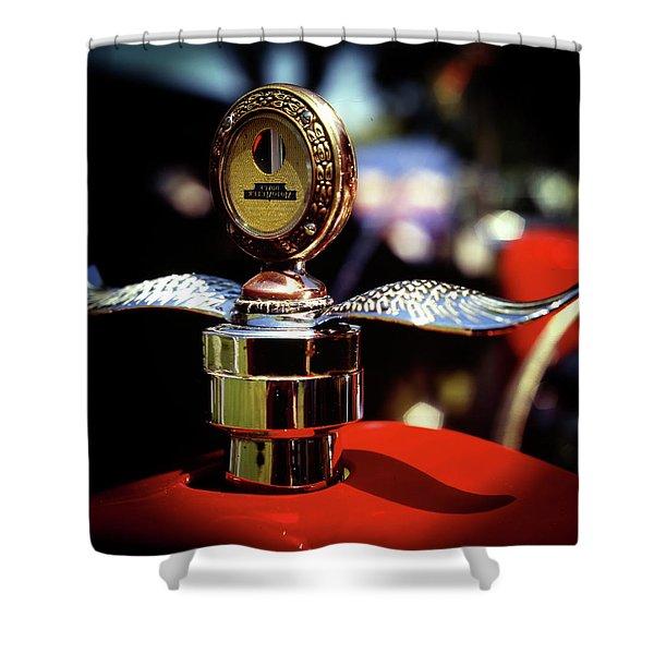Model T Tempreature Gauge Shower Curtain