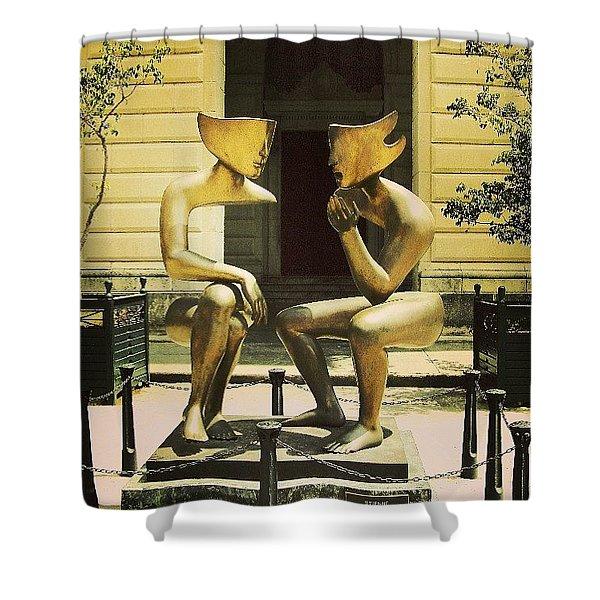 Modern Art In Old Havana Shower Curtain