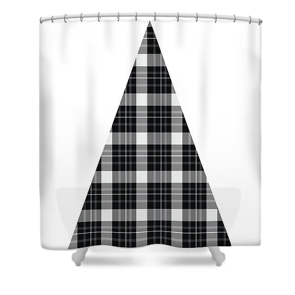 Modern Black And White Tree 3- Art By Linda Woods Shower Curtain
