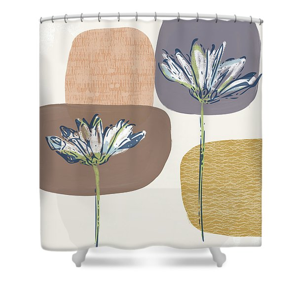 Modern Fall Floral 1- Art By Linda Woods Shower Curtain