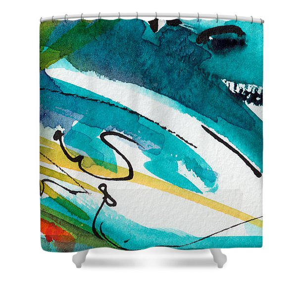 Modern Intuitive Abstract Watercolor Shower Curtain