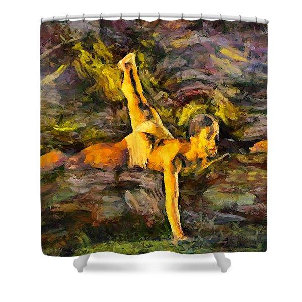 Modern Jazz Shower Curtain