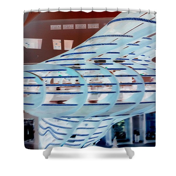 Ghostly Shopping Mall Shower Curtain