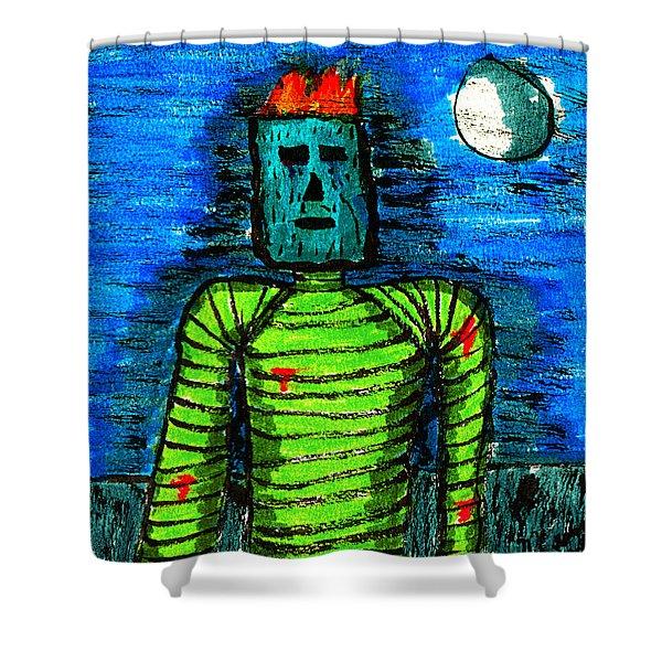Modern Prometheus Shower Curtain