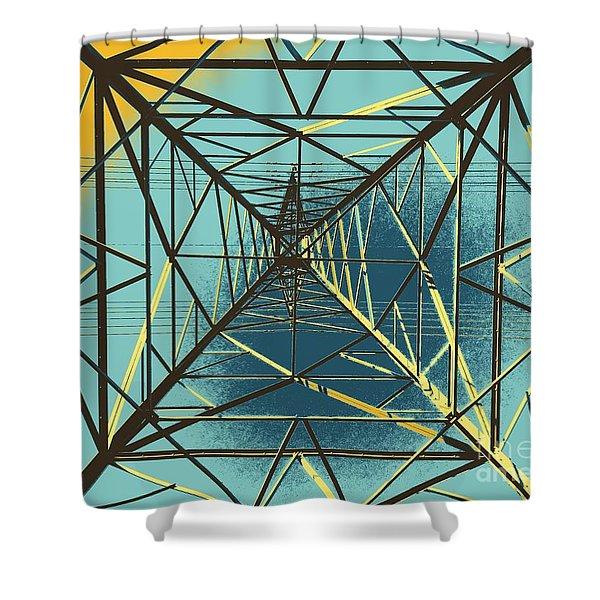 Modern Pyramid Shower Curtain