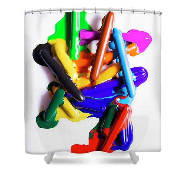 Modern Rainbow Art Shower Curtain