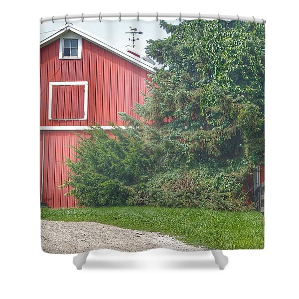 0030 - Modern Red I Shower Curtain