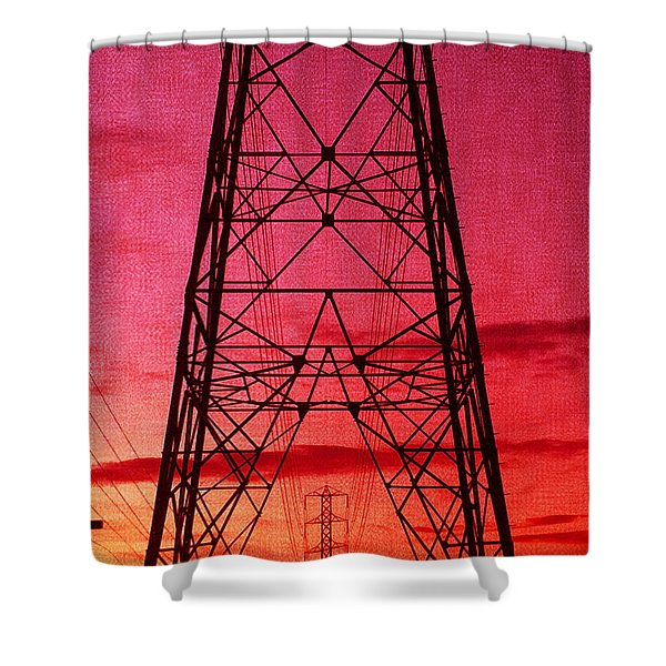 Modern Sunset Shower Curtain