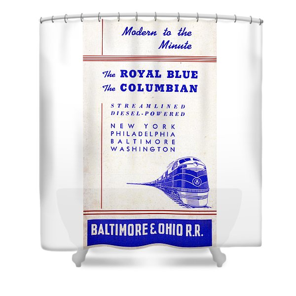Modern To The Minute Shower Curtain