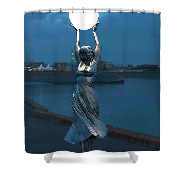 Modernist Streetlight 04 Shower Curtain