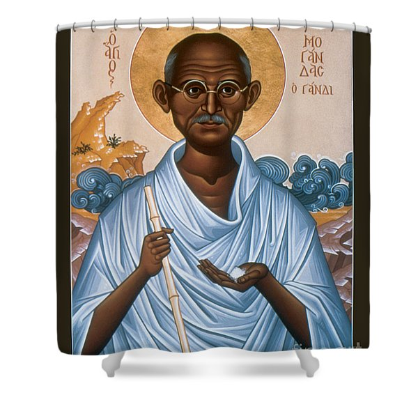 Mohandas Gandhi - Rlmog Shower Curtain