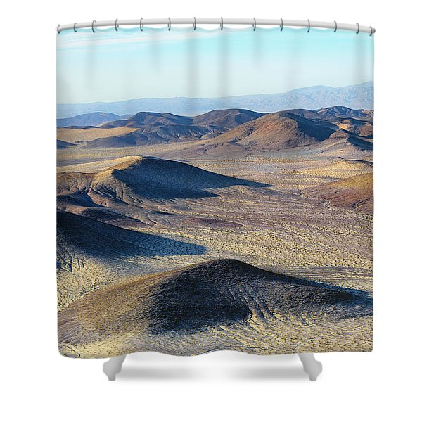 Shower Curtain featuring the photograph Mojave Desert by Jim Thompson