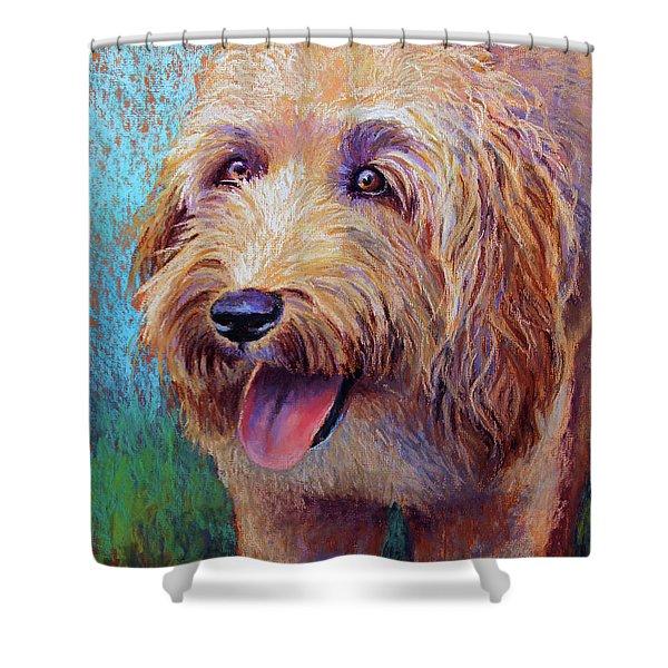 Mojo The Shaggy Dog Shower Curtain