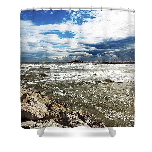 Mole Stones  In Rimini Shower Curtain