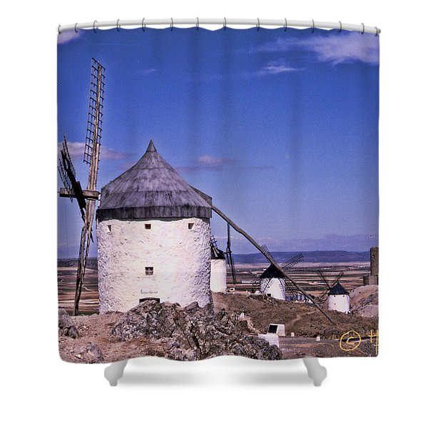 Molinos De La Mancha Shower Curtain