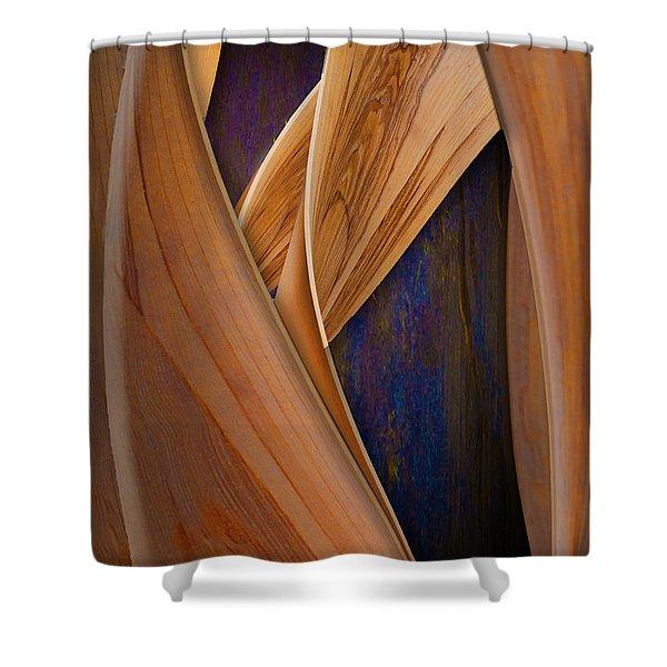 Molten Wood Shower Curtain