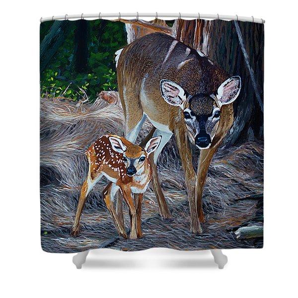 Mom Deer Shower Curtain