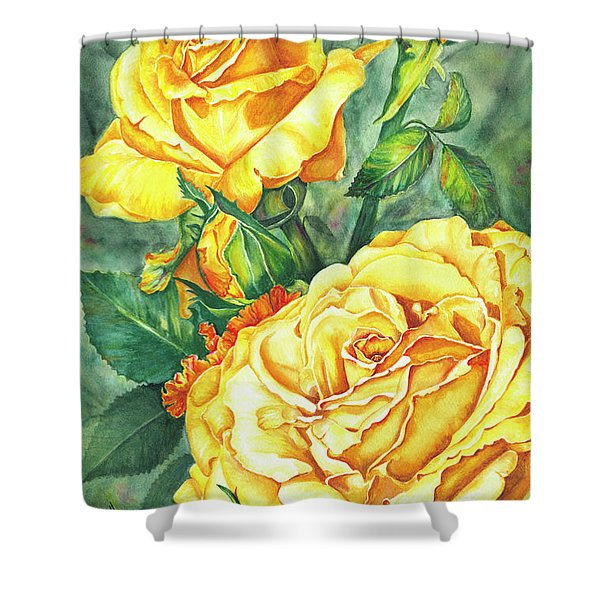 Mom's Golden Glory Shower Curtain