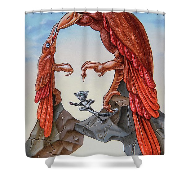 Mona Lisa. Air. Shower Curtain