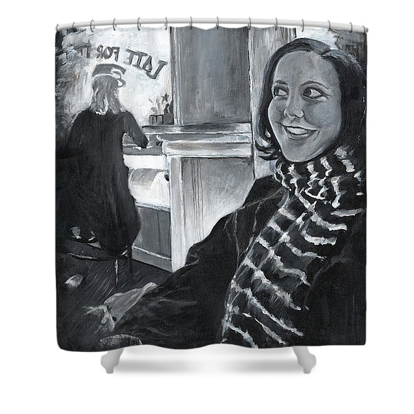 Mona Sandra  Shower Curtain