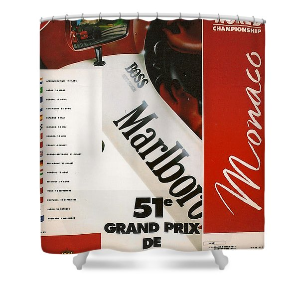 Monaco F1 1993 Shower Curtain