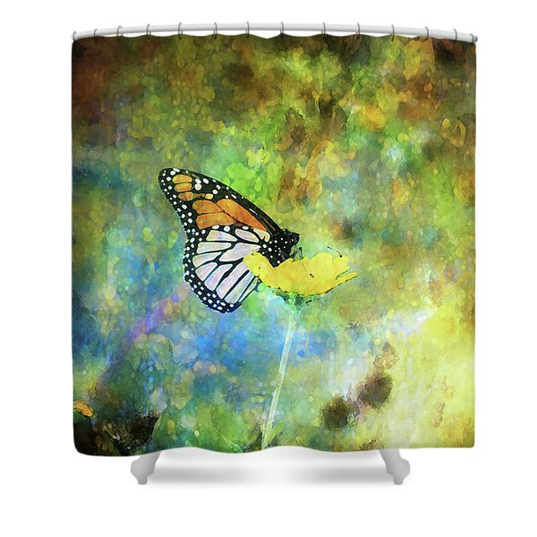 Monarch In Azure And Gold 5647 Idp_2 Shower Curtain