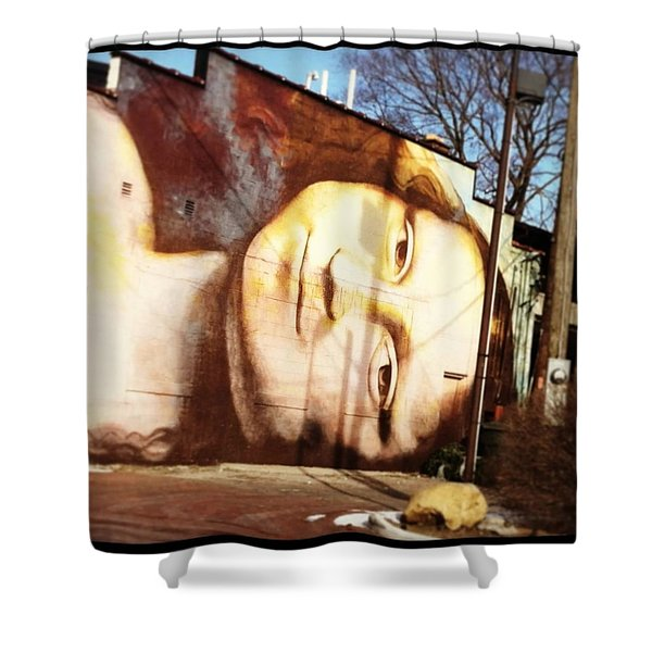 Mona's Facial Expression Shower Curtain