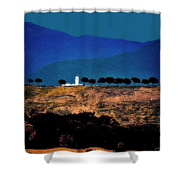 Monastery In Italy Shower Curtain