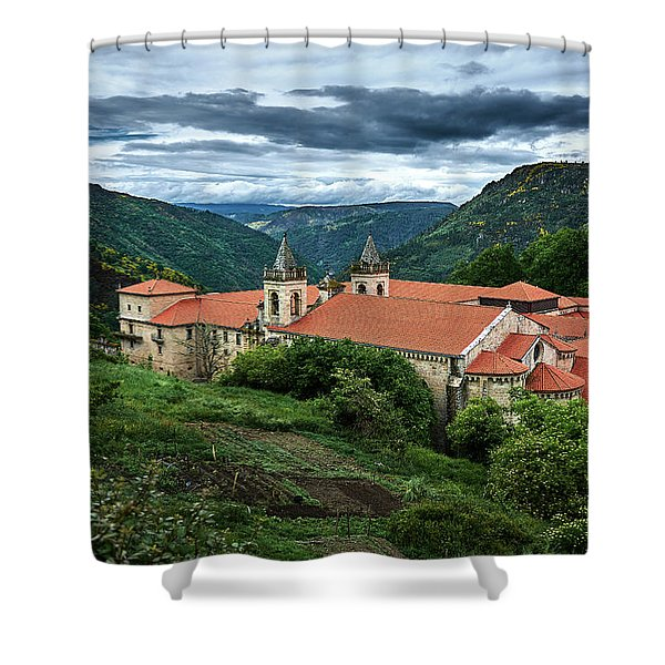 Monastery Of Santo Estevo De Ribas Del Sil Shower Curtain