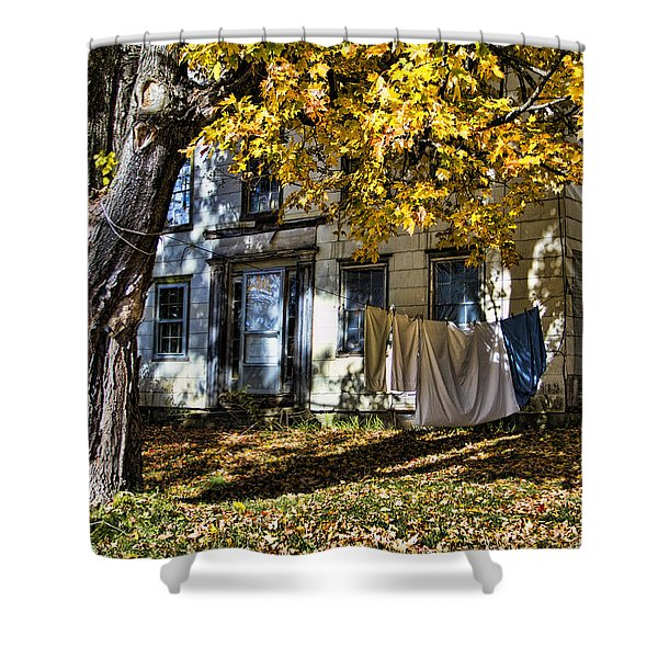 Monday Wash Day Shower Curtain