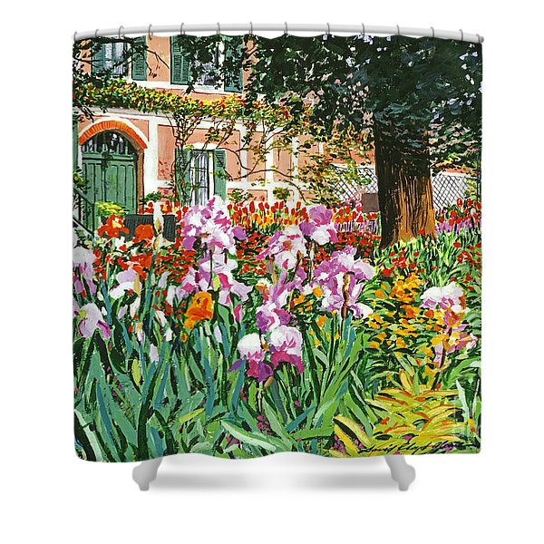 Monet's Irises Shower Curtain
