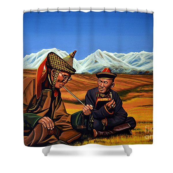 Mongolia Land Of The Eternal Blue Sky Shower Curtain