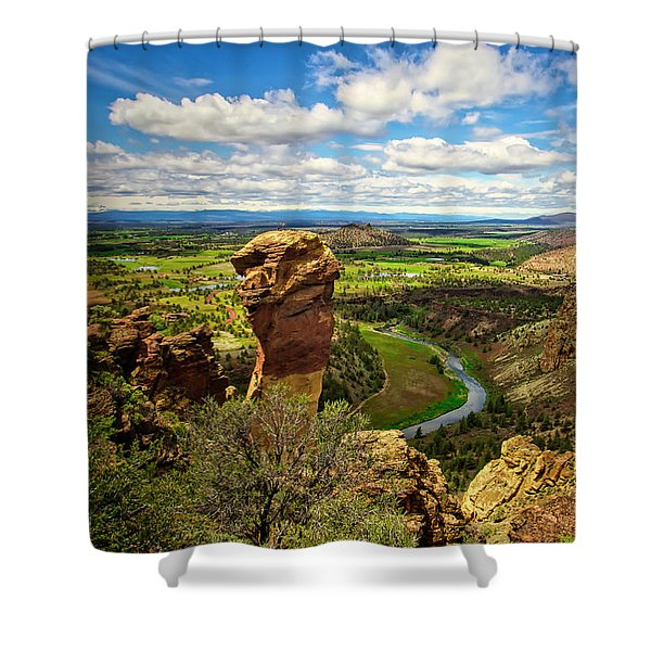 Monkey Face At Smith Rock, Oregon Shower Curtain