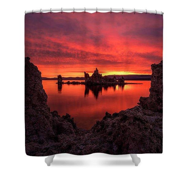 Mono Blaze Shower Curtain