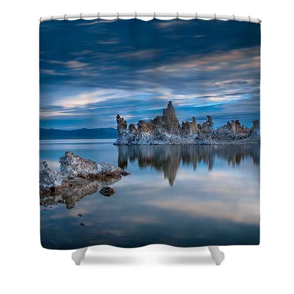 Mono Lake Tufas Shower Curtain