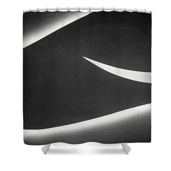 Monochrome Abstract Shower Curtain