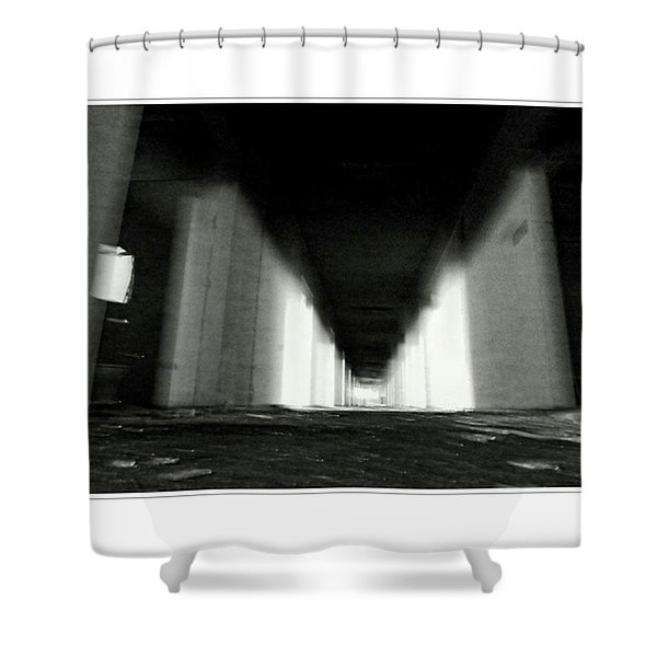 #monochrome  #fuji #finepixs1 Shower Curtain