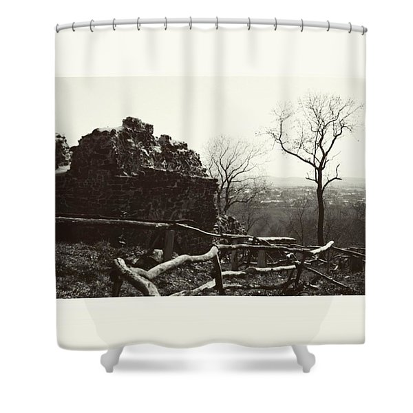#monochrome #summer #canon #harz Shower Curtain