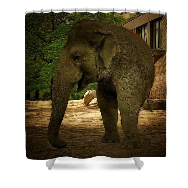 Monophante Shower Curtain