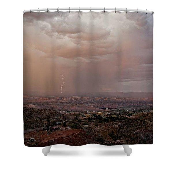 Monsoon Lightning And Rainbow Shower Curtain